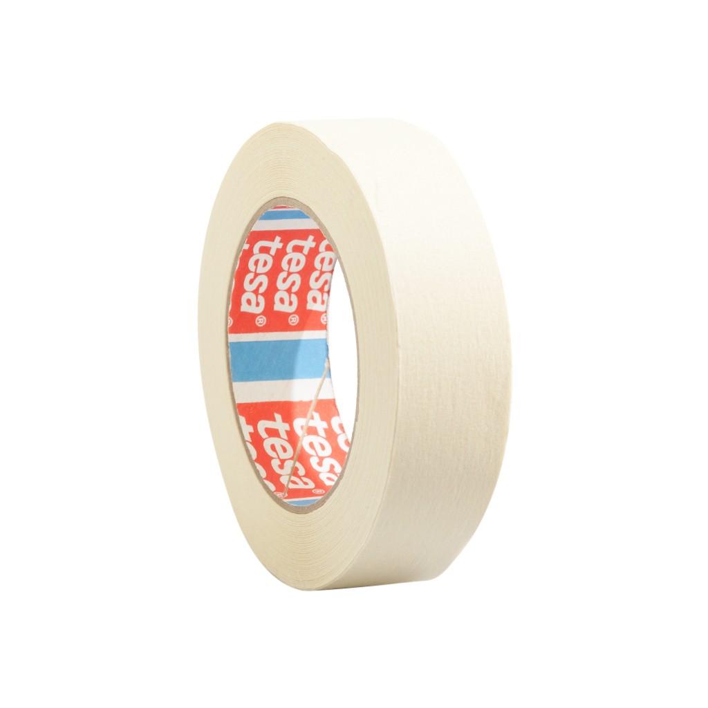 tesa 4317, flachgekrepptes Papierabdeckband, 30mm x 50m, creméweiß