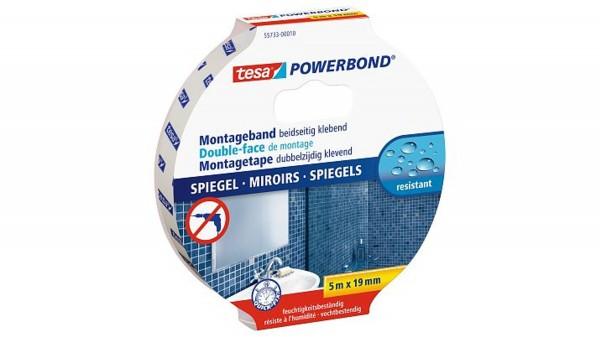 tesa Powerbond® 55733, Spiegelklebeband, Montageband, 19mm x 5m