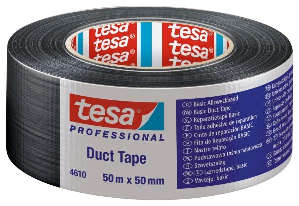 tesa 4610, Gewebeband Duct Tape, 50mm x 50m, schwarz