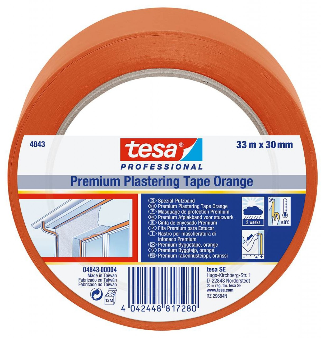tesa 4843 Putzband orange