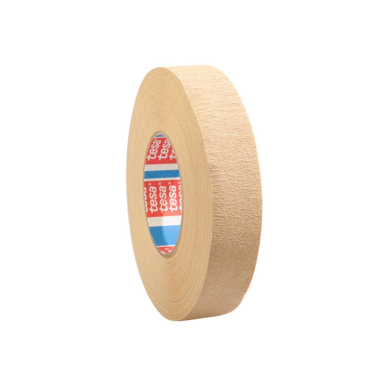 tesa 4319, hochgekrepptes Papierklebeband für Malerarbeiten, hellbraun