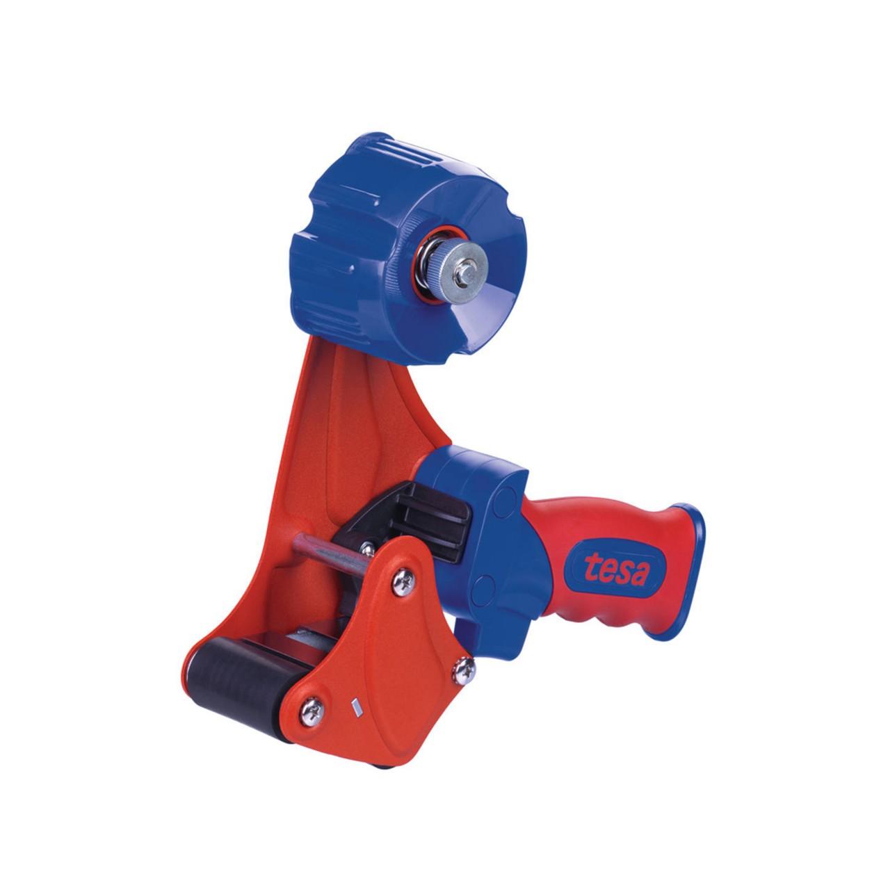 tesa 56402, Handabroller PREMIUM, rot-blau
