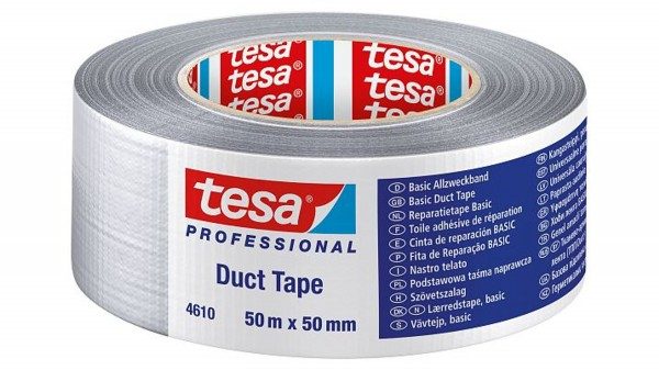 tesa 4610, Gewebeband Duct Tape, 50mm x 50m, silber