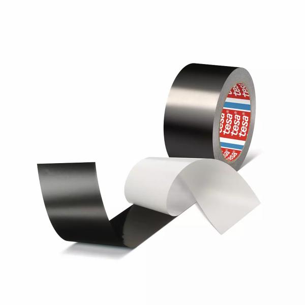 tesa 50577, Aluminiumband, schwarz, 50mm x 25m