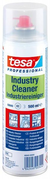 tesa 60040, Industriereiniger Spray, 500ml, transparent