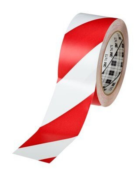 3M 767i, Gefahrenwarnband, 50mm x 33m, rot/weiß