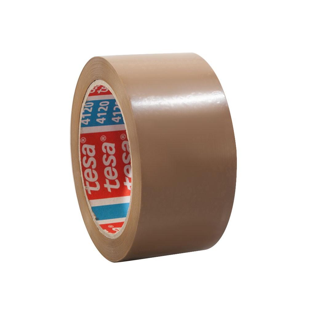 tesapack 4120, PVC-Verpackungsklebeband, 50mm x 66m, braun