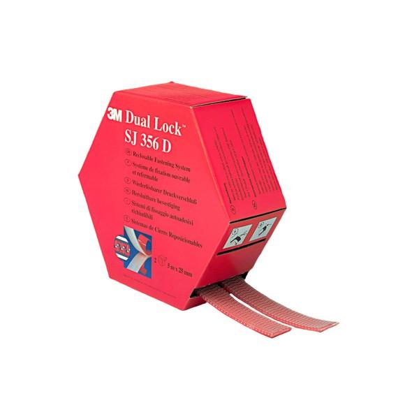 3M SJ 356 D, Dual Lock 2 Rollen, 25mm x 5m