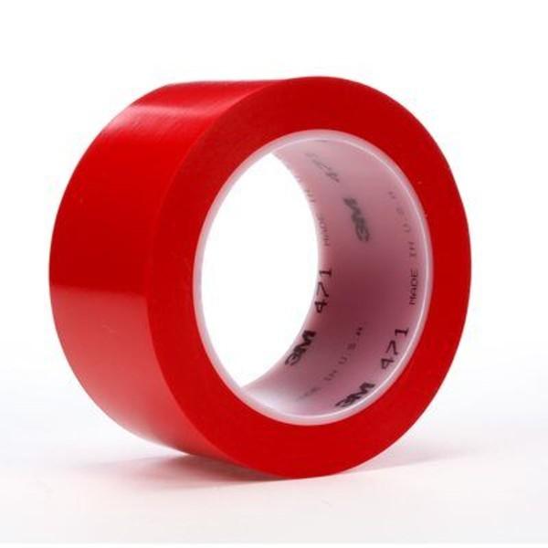 3M 471, Weich-PVC-Klebeband, 50mm x 33m, rot