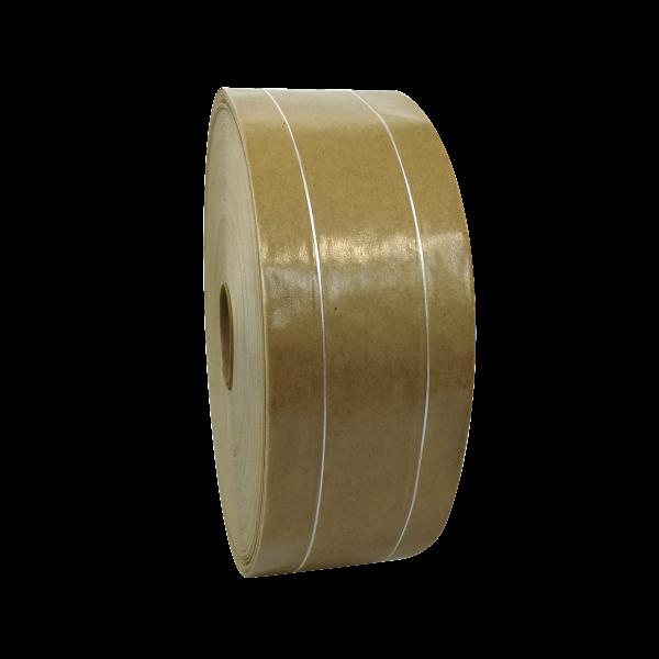 selmundo 5225, Naßklebeband, fadenverstärkt, 60mm x 200m, braun