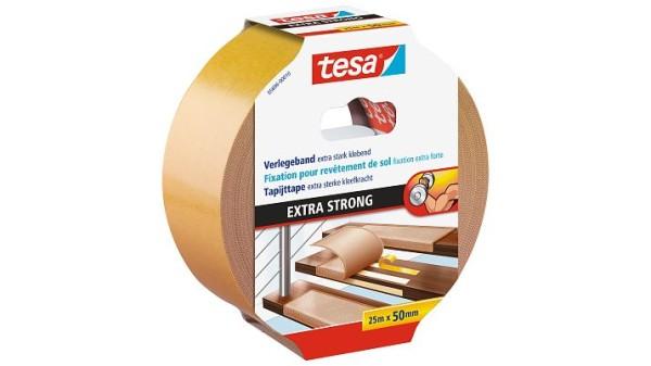 tesa 5696, doppelseitiges Verlegeband extra stark klebend, 50mm x 25m