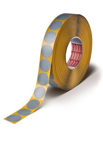 tesa 54657, Klebepunkte Gewebeband / 2000 Stück / Ø 30mm / grau