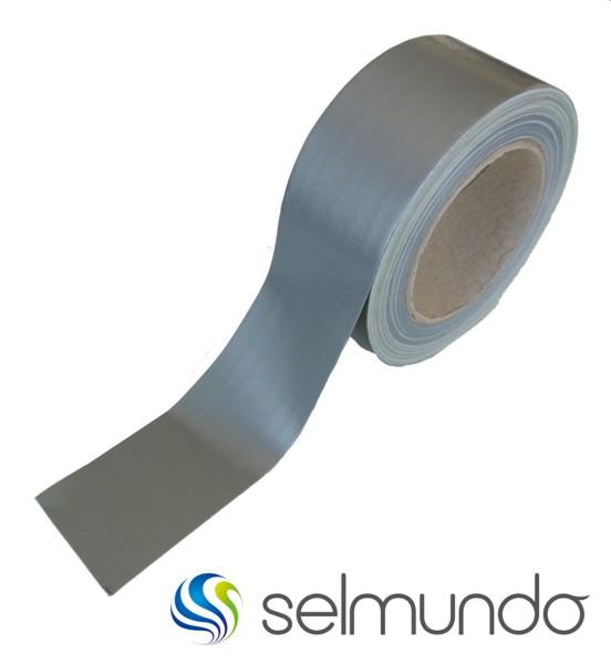 """selmundo 6488, Premium """"Duct Tape"""" Gewebeband, 50m, silber"""