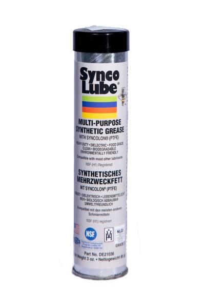 Synco Lube 21036 - Syntetisches Mehrzweckfett mit Syncolon (PTFE), 85g Kartusche