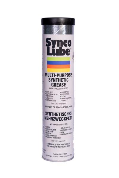 Synco Lube 41150 - Synthetisches Mehrzweckfett mit Syncolon (PTFE), 400g Kartusche