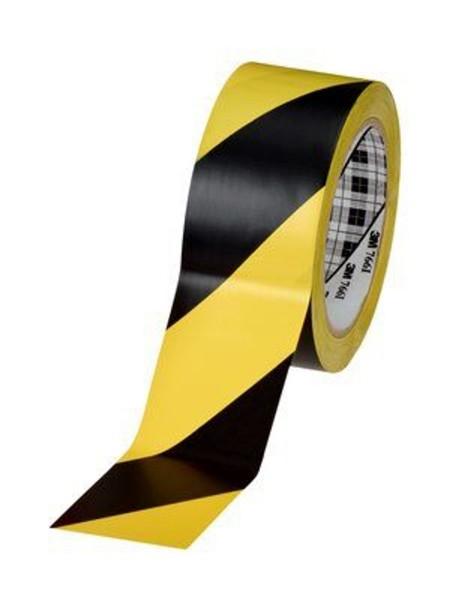 3M 766i, Weich-PVC Gefahrenwarnband, 50mm x 33m, schwarz/gelb